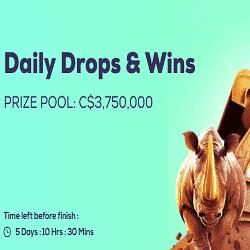 Daily Drops & Wins: C$3,750,000 - Wild Fortune