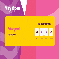 May Open: 2500 EUR in prizes from casino Spinurai