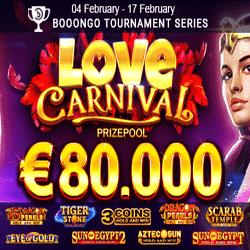 PlayAmo Casino Love Carnival: €80,000