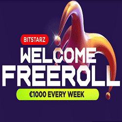 Welcome Freeroll: €1000 every week at BitStarz
