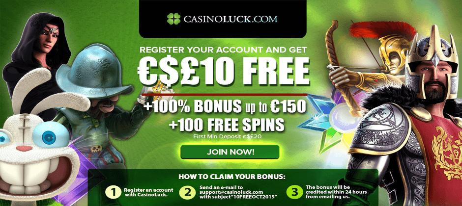 Casino Luck Free €10 Cash