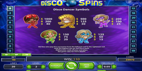 Disco Spins Netent Slot