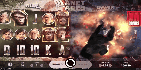 Planet Of Apes Netent Slot
