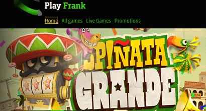 Play Frank Casino Promotion