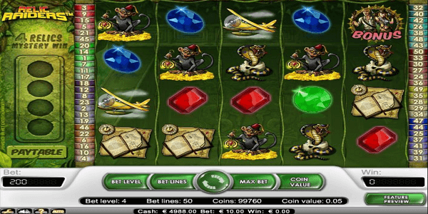 Relic Raiders  Netent Slot
