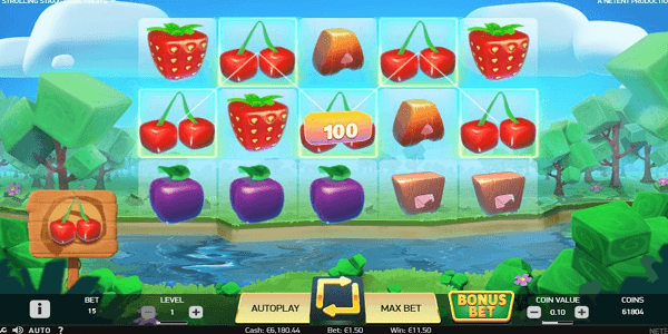 Strolling Staxx: Cubic Fruits Netent Slot