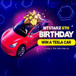 Join the BitStarz 6th Birthday party & win a Tesla