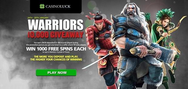 CasinoLuck free spins