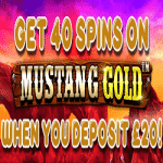 "Chomp Casino: 40 Spins on ""Mustang Gold"""