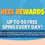 50 Free Spins - every day at Chomp Casino