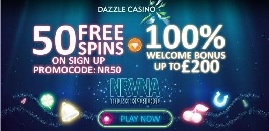 Dazzle Casino bonus & free spins