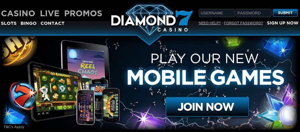 Diamond7 Free Spins