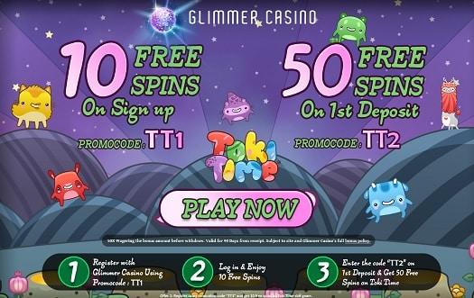 Glimmer Casino free spins