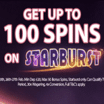 100 Spins on Starburst from Jackpot Mobile Casino