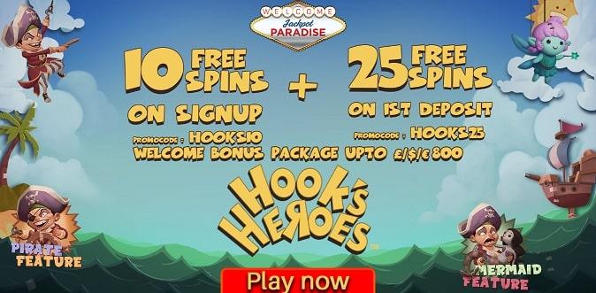 Jackpot Paradise Casino free spins