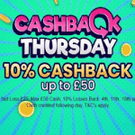 Cashback Thursdays with casino Handy Vegas