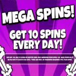 Mega Spins: 10 spins every day at Jackpot Slot