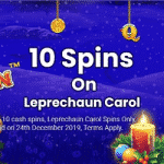 10 Free Spins on Leprechaun Carol - Jackpot Wilds