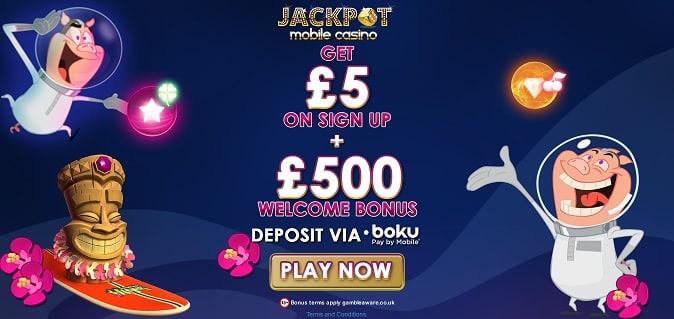 Jackpot Mobile Casino welcome bonus