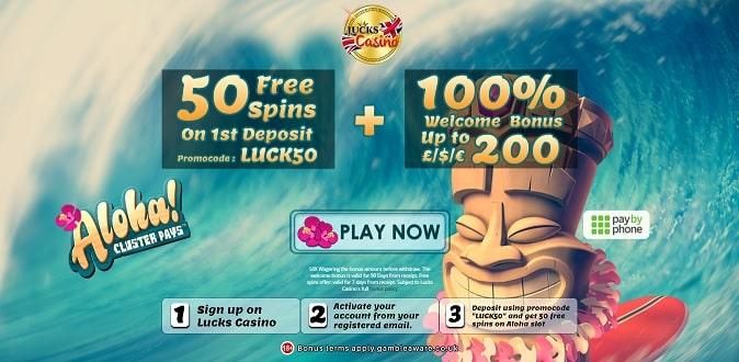 Lucks Casino free spins + bonus