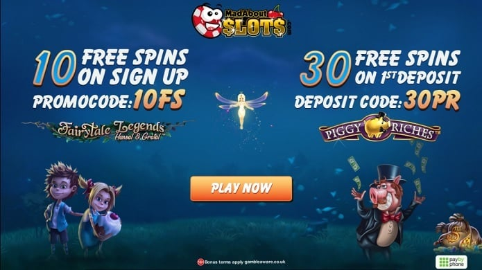 Mad About Slots Casino free spins