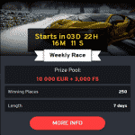 The next Weekly Race will start at N1 Casino