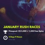 January Rush Races at the NightRush casino