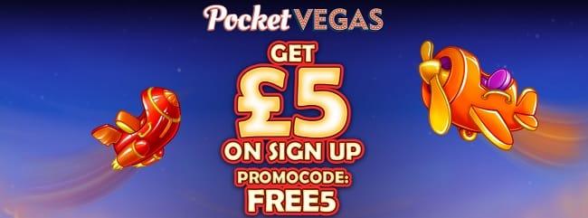 Pocket Vegas Casino bonus