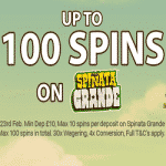 100 Spins on Spinata Grande at Sapphire Rooms