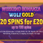 100 Spins on Wolf Gold at the Sapphire Rooms