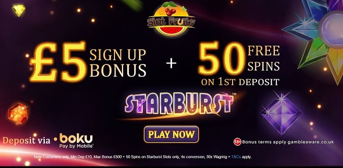 Slot Fruity bonus + free spins