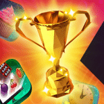 Collect trophies and win free spins at Slots Gold