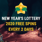 New Year's Lottery: 2020 Free Spins from Spinia