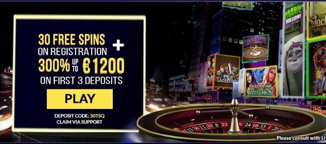 Times Square Casino bonus