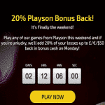 Playson Bonus Back Promotion - Trada Casino