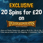 Vegas Wins: Exclusive 20 Spins on Plucky Pirates