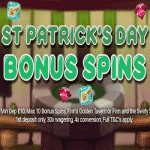 WatchMySpin - St. Patrick's Day Bonus Spins