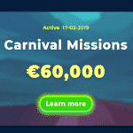 Wazamba Carnival Missions Tournament: €60,000