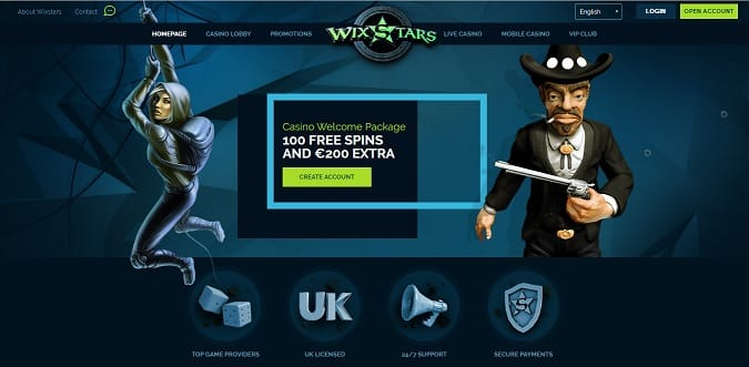 Wixstars Casino welcome package